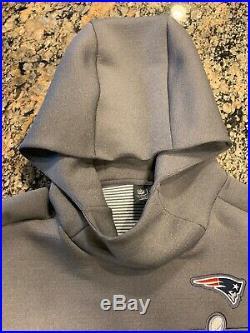 Nike NFL Patriots Sideline Hoodie Super Bowl LIII 53 Mens CQ8088 082 Media Day