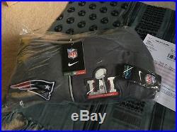 Nike New England Patriots Brady Super Bowl 51 Media Hoodie L Jacket Thermafit