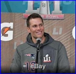 Nike New England Patriots Super Bowl 51 LI Tom Brady Media Night Hoodie Large