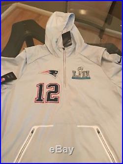 Nike New England Patriots Super Bowl Media Day Tom Brady Jacket Size L