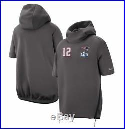 Nike New England Patriots Tom Brady Super Bowl LIII 53 Media Day Hoodie Sz Large