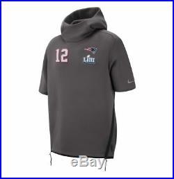 Nike New England Patriots Tom Brady Super Bowl LIII 53 Media Day Hoodie Sz Med