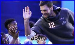 Nike New England Patriots Tom Brady Super Bowl LIII 53 Media Night Hoodie Jacket