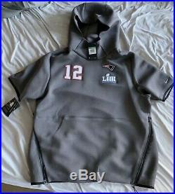 Nike New England Patriots Tom Brady Super Bowl LIII 53 Media Night Hoodie XL
