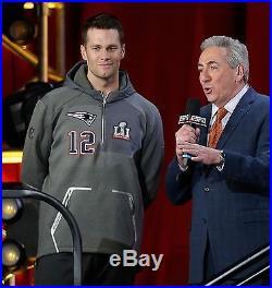 Nike TOM BRADY New England Patriots Super Bowl 51 Media Jacket Hoodie X-LARGE XL