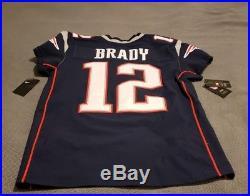 Nike Tom Brady New England Patriots #12 Elite Jersey SZ 44 851608-419 MSRP $325