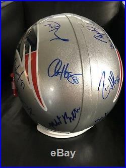 Orig BRADY New England PATRIOTS Autogramm Football Helmet NFL Edelman USA COA