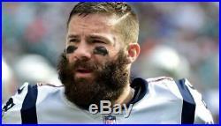 Orig EDELMAN GRONKOWSKI Autogramm Football New England PATRIOTS NFL signed Brady