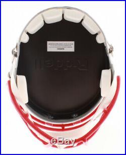 PATRIOTS Julian Edelman Signed FULL SIZE Speed Helmet Beckett Witness COA
