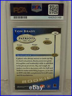 PSA 8 2000 Quantum Leaf Rookie #343 Tom Brady New England Patriots