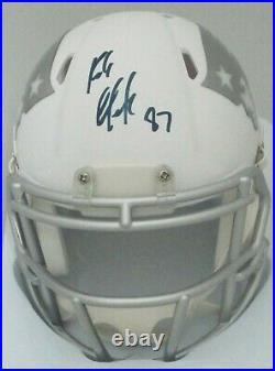 Patriots ROB GRONKOWSKI Signed Riddell ICE Alternate Mini Helmet AUTO Radtke