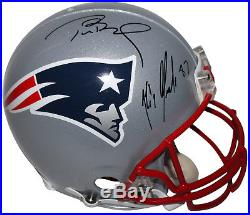 Patriots Tom Brady & Rob Gronkowski Signed Authentic Full Size Helmet PSA/DNA