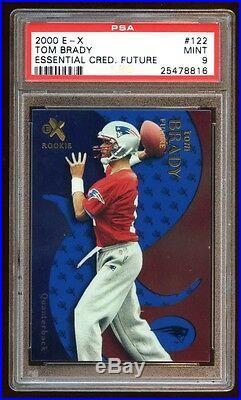 Psa 9 Tom Brady 2000 E-x Rc #d 14/25 Essential Credentials Future 6x Sb Champs