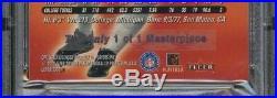 RARE 2000 Fleer Ultra Masterpiece #234M Tom Brady Patriots RC Rookie 1/1 PSA 8