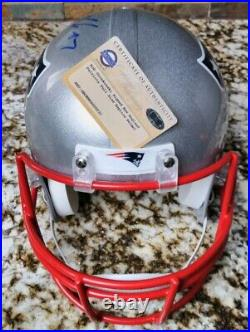 ROB GRONKOWSKI SIGNED NEW ENGLAND PATRIOTS FULL SIZE HELMET with STEINER COA