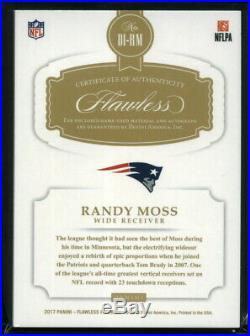 Randy Moss 2017 Panini Flawless Distinguished Auto Autograph Patch Patriots 1/5