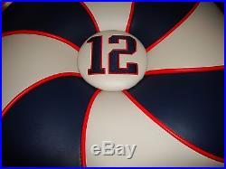 Rare Tom Brady #12 New England Patriots Ottoman Hassock Man Cave Super Bowl