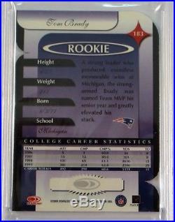 Rarest Tom Brady Psa 10 Rookie Card In The World (s/n 05/10) Elite Status 2000