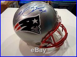 Rex Burkhead New England Patriots Autographed Full Size Replica Helmet 2 Coa JSA