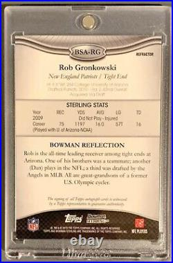 Rob Gronkowski 2010 Bowman Sterling Auto SUPERFRACTOR RC #1/1