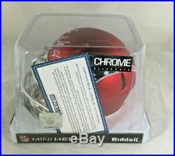 Rob Gronkowski / Autographed New England Patriots Blaze Mini Helmet / Steiner