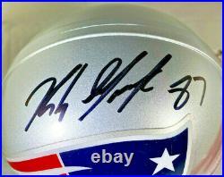 Rob Gronkowski / Autographed New England Patriots Logo Mini Helmet / Gronk Holo