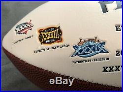Rob Gronkowski/Julian Edelman signed Patriots History Football (COA)