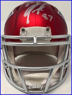 Rob Gronkowski New England Patriots Autographed Blaze Mini Helmet Beckett BAS