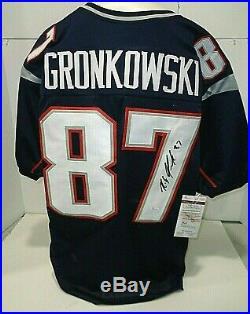 Rob Gronkowski New England Patriots Autographed Custom Style Jersey Coa-JSA