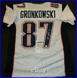 Rob Gronkowski New England Patriots Autographed Custom Style Jersey Coa JSA