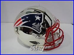 Rob Gronkowski New England Patriots Autographed F/S Chrome Rep Helmet Coa JSA
