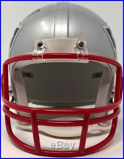Rob Gronkowski New England Patriots Autographed Riddell Mini Helmet Beckett BAS