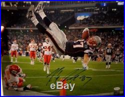 Rob Gronkowski New England Patriots Autographed signed 16x20 photo withcoa JSA