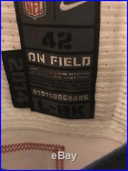 Rob Gronkowski New England Patriots Team Issued Backup Super Bowl Game Jersey