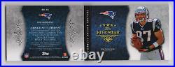Rob gronkowski autograph patch logo rookie auto booklet rc jersey Patriots #3/10