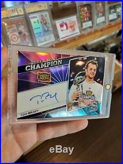 Spectra Tom Brady Refractor On Card Auto 2/2 (1/1) Super Bowl Champion Auto 1/1