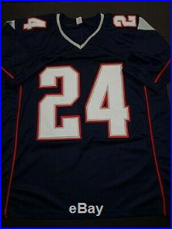 Stephon Gilmore New England Patriots Autographed signed Blue Jersey XL JSA-COA