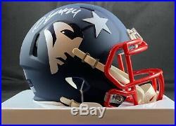 Stephon Gilmore autographed signed AMP mini helmet New England Patriots PSA COA