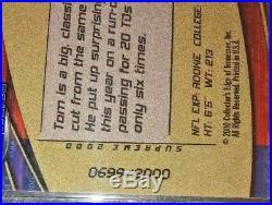 TOM BRADY 2000 Collector's Edge SUPREME RAINBOW HOLOFOIL /2000 RC VERY RARE