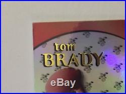 TOM BRADY 2000 E-X #122 RC ROOKIE CARD NEW ENGLAND PATRIOTS SP #d 711/1500