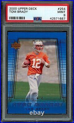 TOM BRADY 2000 Upper Deck #254 RC Rookie (Patriots) (Bucs) PSA 9 MINT
