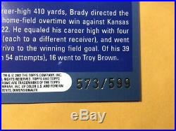 TOM BRADY 2003 Topps Chrome Black Refractor #148 SP Patriots 599 EXTREMELY RARE