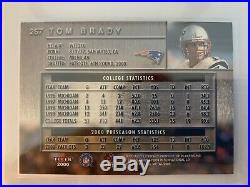 TOM BRADY RC Rookie 2000 Fleer Metal #267 Patriots GOAT