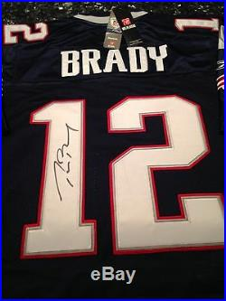 TOM BRADY SIGNED PRO CUT ON-FIELD REEBOK JERSEY with authenticity letter and case