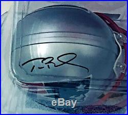 TOM BRADY Signed Mini Helmet TRI-STAR COA PATRIOTS Auto #12
