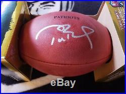 TOM BRADY Signed New England Patriots Duke Game Football STEINER TRISTAR COA