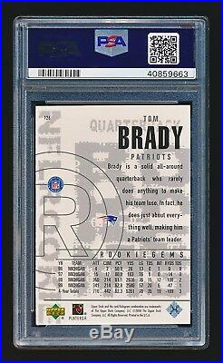 Tom Brady 2000 Black Diamond #126 RC PSA 9 Mint