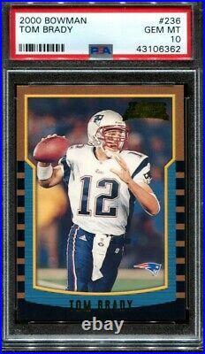 Tom Brady 2000 Bowman #236 Rookie RC PSA 10