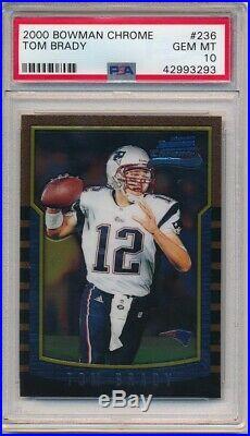 Tom Brady 2000 Bowman Chrome #236 Rc Rookie New England Patriots Psa 10 Gem Mint