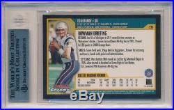 Tom Brady 2000 Bowman Chrome #236 Rc Rookie New England Patriots Sp Bgs 9 Mint